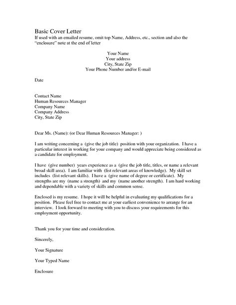 general cover letter sample your choice whether to go into reasons ...