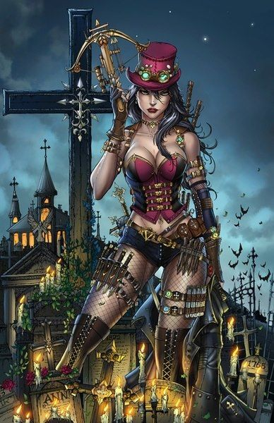 Steampunk:  Armed and steaming.