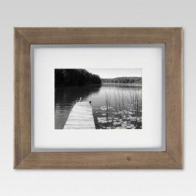8 X 10 Matted To 5 X 7 Wood And Metal Edge Frame Brown Threshold In 2020 Frames On Wall Picture Frames Display Family Photos