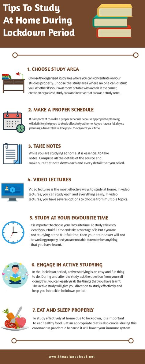 How To Study At Home During Lockdown Period In 2020 Study Tips Home Study Study