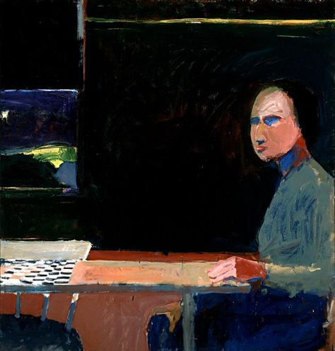 "lilithsplace: "" Woman and Checkerboard, 1956 - Richard Diebenkorn (1922–1993) """