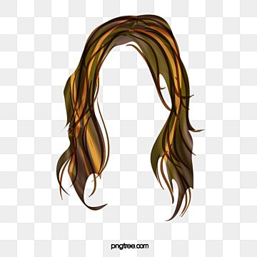 Western Style Long Hair Wig Free To Pull The Material Png And Psd In 2021 Creative Hairstyles Hair Business Cards Hair Clips