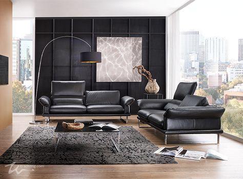 Sofas -2-3-, im Longlife Xtra by WSCHILLIG Leder Z 80, Farbe - gemütliches sofa wohnzimmer