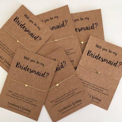 Bridesmaid proposal bridesmaid gift bridesmaid wish string   Etsy