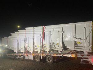 Thirty Yard Sludge Dumpsters Built For Trademark Truck Lines Savannah Ga Cedar Manufacturing In 2020 Dumpsters Trucks Savannah Ga