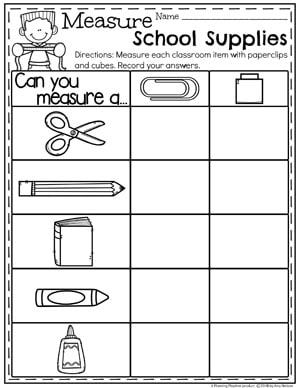 Measurement Worksheets Planning Playtime Measurement Kindergarten Measurement Worksheets Measurement Activities