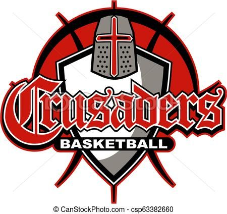 Crusaders Basketball Vector Stock Illustration Royalty Free