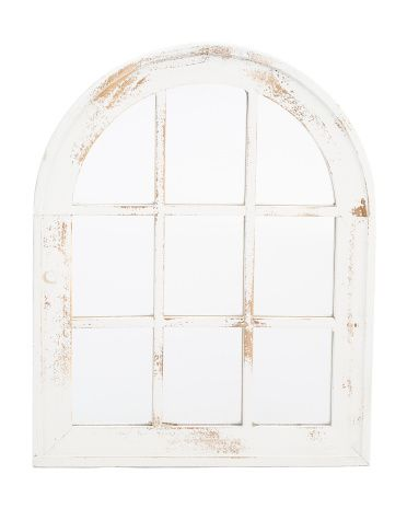 Wood Arch Window Pane Wall Mirror Mirror Wall Wood Arch