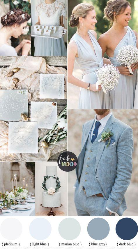 Light Blue Wedding Theme Hacks - light blue grey wedding colors - vision for an elegant wedding