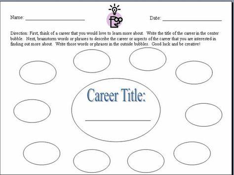 career comparison worksheet - Google Search | Worksheets ...
