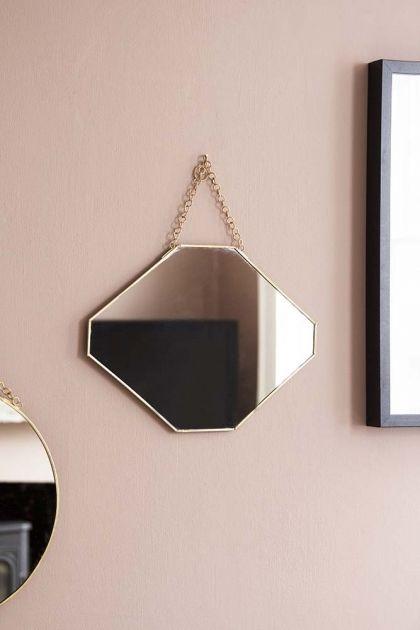 Octagon Gold Hanging Bathroom Mirror