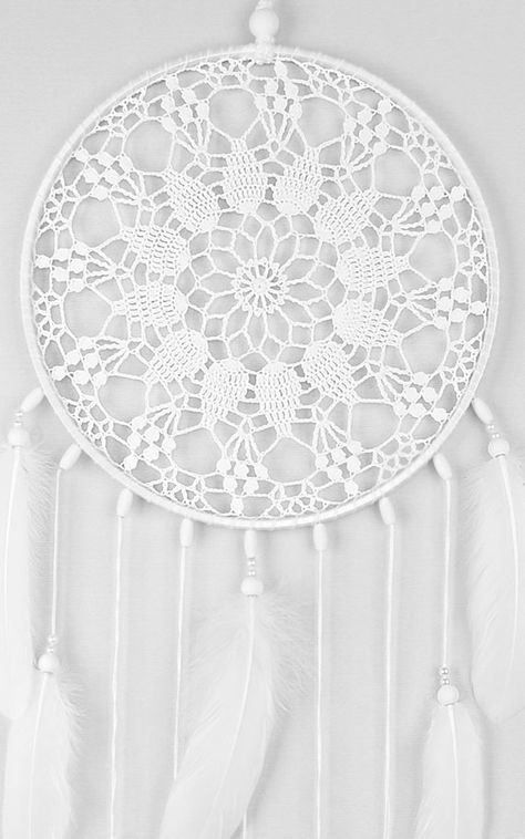 Large White Dream Catcher Crochet Doily Dreamcatcher Wedding | Etsy
