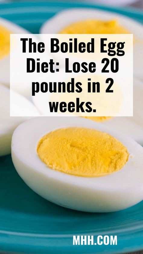 The Boiled Egg Diet: Lose 20 pounds in 2 weeks.