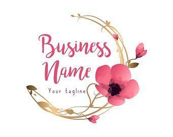 Diseno De Logotipo Personalizado Logotipo De Flores De Etsy Flower Logo Design Flower Logo Custom Logo Design