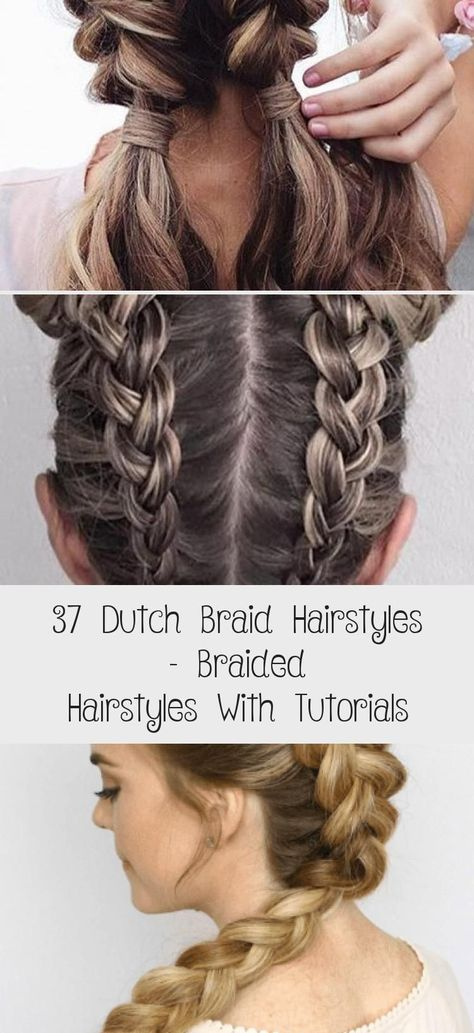 Now you know how to weave a braid. On its basis, you can independently make different hairstyles. The braid itself can be braided in the center, sideways, diagonally, with a snake, around the head, weave a ribbon or bows of hair. Its end can be wrapped in a flower. #hairtutorialColor #Wavyhairtutorial #hairtutorialAfricanAmerican #hairtutorialArt #hairtutorialParty # Braids with weave at the end 37 Dutch Braid Hairstyles – Braided Hairstyles With Tutorials - Hair Care # dutch Braids african amer