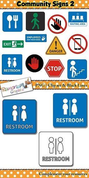 Community Signs Clip Art Preschool Classroom Labels Clip Art Social Studies Classroom