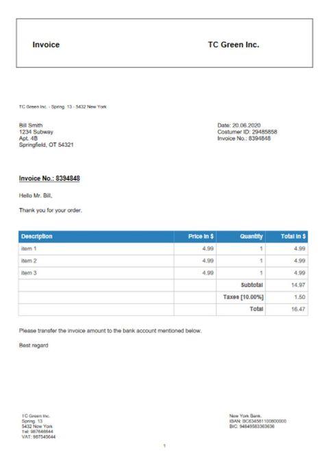 Free Invoice Generator Invoice Maker Receipt Maker Invoice Example