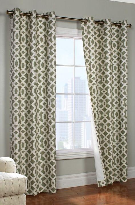 Trellis Thermalogic Grommet Curtain Panel Pair Curtain Bath
