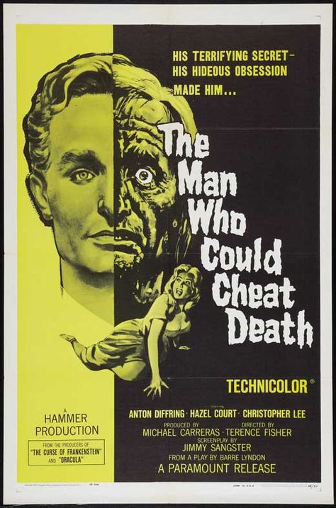film poster art The Man Who Could Cheat Death