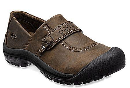 Keen Women's Kaci Casual Full Grain Leather Slip On Shoes Cascade Brown  1012048