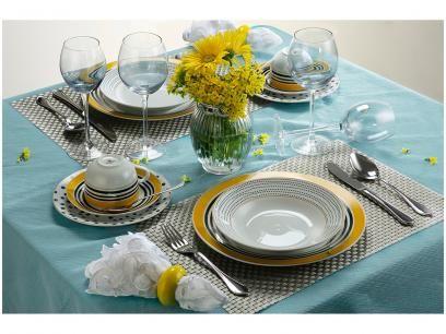 Aparelho De Jantar Cha 30 Pecas Casambiente Porcelana