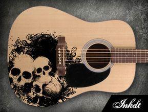 Acoustic Guitar Skins Inkdt Guitar Skins Violao Customizado Foto Com Violao Guitarras