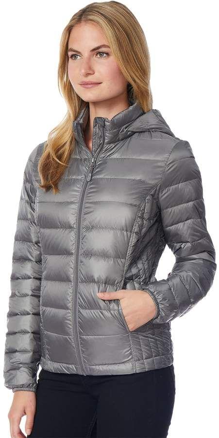 Women's HeatKeep Hooded Packable Puffer Down Jacket | Jackets, Winter  jackets women, Down jacket