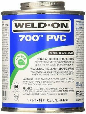 Weld On 700 Clear Pvc Cement 16 Oz 700 020 12181100806 Ebay Cement Pvc Water Based Wood Stain