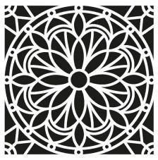 Plastica 30,5/x 0,2/x 35/cm Nero Artemio Fantasia Stencil Home decorativo