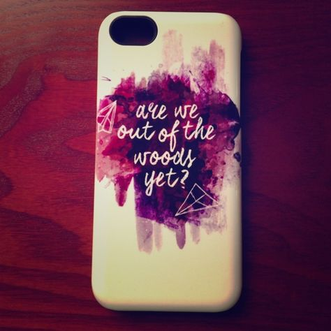 """Taylor Swift iPhone 5C case Taylor Swift """"Out Of The Woods"""" iPhone 5C case. Got it custom made on Red Bubble. Great protective case! Accessories Phone Cases"""