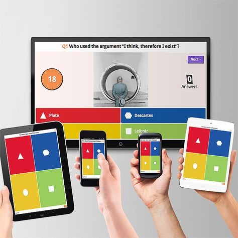 Kahoot! | Game-based blended learning classroom response system with BYOD (works with a variety of devices) student accounts not needed ~ Free teacher account