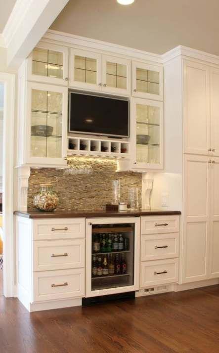 Kitchen Bar Desk Butler Pantry 53 Ideas Tv In Kitchen Kitchen Remodel Kitchen Design Color