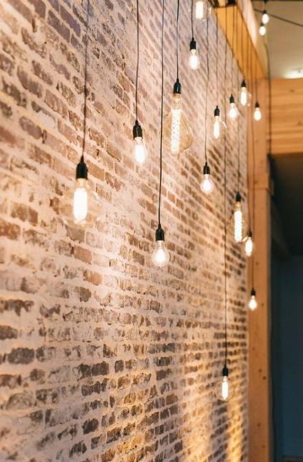 57 Ideas For Lighting Ideas Ceiling Exposed Brick Brick Wall Decor Brick Bedroom Brick Interior