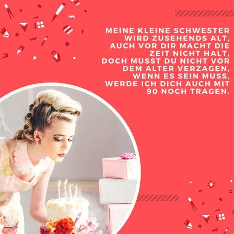 Kleine Schwester Spruch Zum Geburtstag Schwester Pinterest