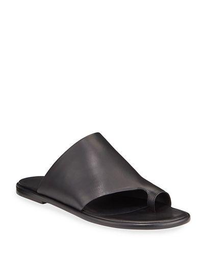 X4Y23 Vince Edris Flat Leather Slide