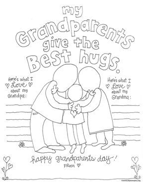 Grandparent Coloring Pages With Images Grandparents Day Crafts