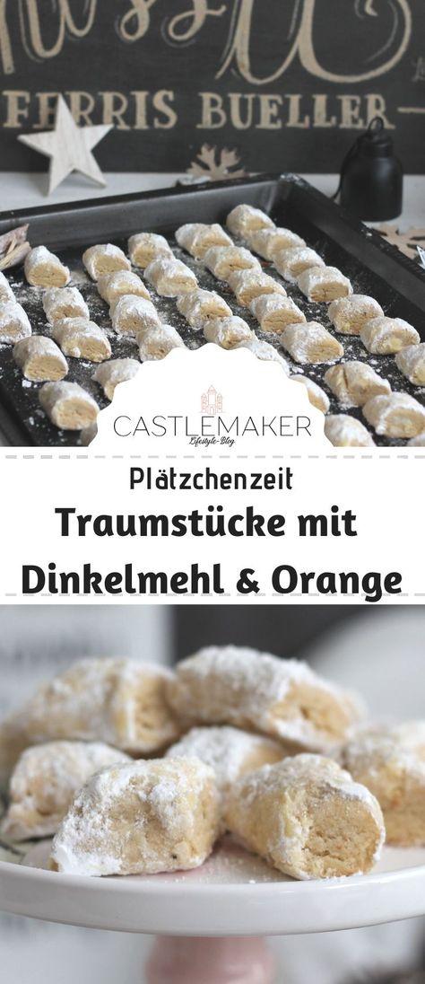 Köstliche Traumstücke - die wohl einfachsten Plätzchen der Welt - mit Dinkelmehl und Orange - einfach, lecker, schön. Das Rezept auf Castlemaker.de - dort gibt es auch eines für Traumstücke mit Marzipan.  #traumstücke #rezept #plätzchen #weihnachten #advent #einfach #castlemaker