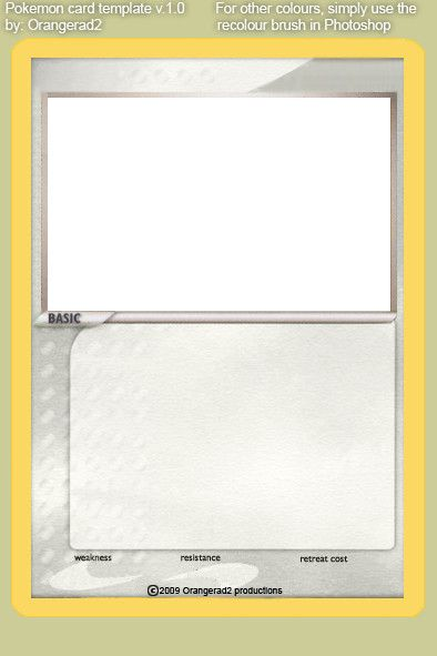 Trading Card Template Word Trading Card Template Card Template Pokemon Card Template