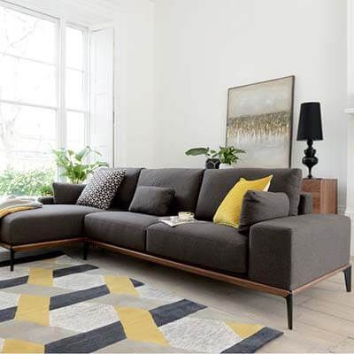 L Shaped Couch Design Ideas Home Decoration Trends Dark Grey