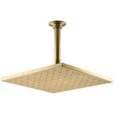 Kohler Contemporary Rain Shower Head Finish Vibrant Moderne Brushed Gold In 2020 Shower Heads Rain Shower Gold Shower