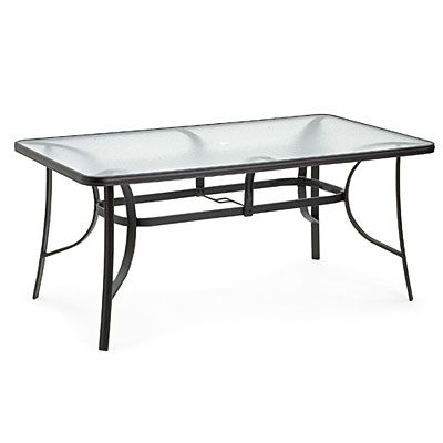 Wilson Fisher Rectangular Glass Dining Table At Big Lots 1786