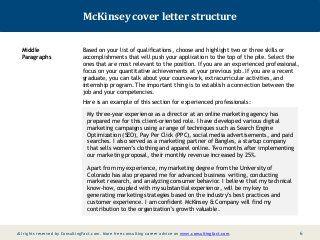Mckinsey Cover Letter Sample Cover Letter Sample Lettering