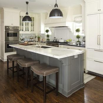 Gray Barstools, Transitional, kitchen, Benjamin Moore White Dove, Martha  O'Hara Interiors | Ranch Remodels | Pinterest | Benjamin moore white, ...