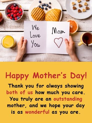 We Love You Happy Mother S Day Card From Both Of Us Birthday Greeting Cards By Davia Happy Mothers Happy Mother S Day Happy Mother S Day Card