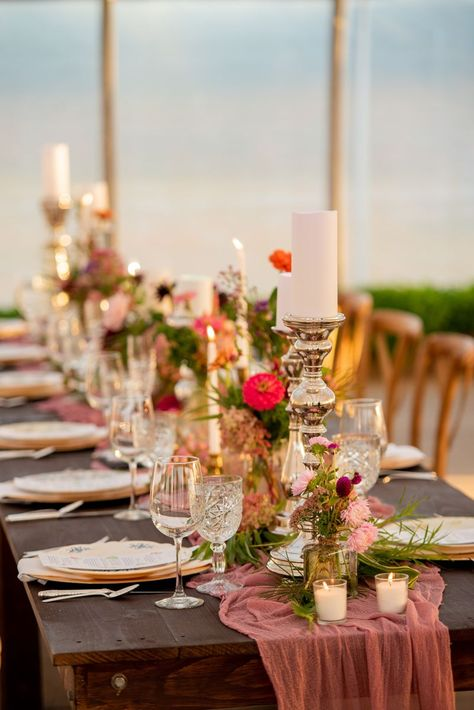 Boho summer wedding reception in Saratoga New York. #summerwedding #weddingreception #tabledecor #bohowedding