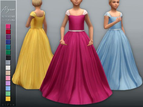- New mesh Found in TSR Category 'Sims 4 Female Child Formal' Sims 4 Cc Kids Clothing, Sims 4 Mods Clothes, Sims Mods, Children Clothing, Kids Winter Fashion, Kids Fashion, Fashion Shoot, The Sims 4 Bebes, Muebles Sims 4 Cc