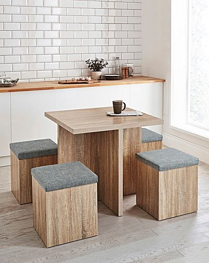 Michigan Space Saver Hideaway Dining Set J D Williams Kitchen Table Small Space Space Saving Kitchen Table Compact Dining Table