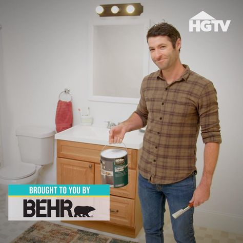 Bored of your cookie-cutter bathroom? Follow our simple guide for skipping the renovation and still giving your bathroom the va-va-voom treatment fresh paint and fun accessories! Sponsored by Behr.