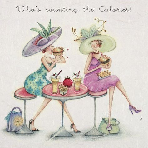 Cards » Who's counting the Calories » Who's counting the Calories - Berni Parker Designs