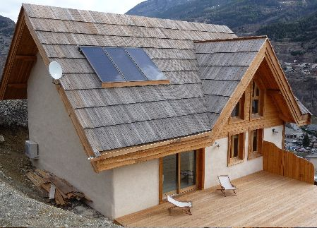 Maison Torchis  Casas Naturales    Cabin And House